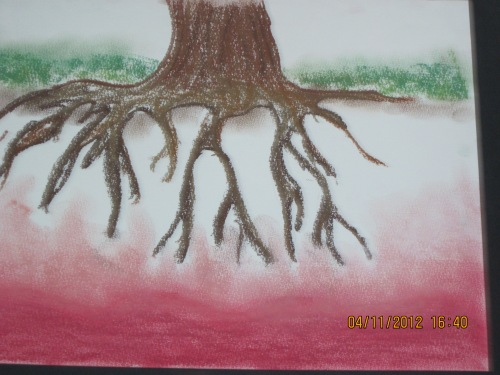 Root Chakra (Base chakra) : Original drawing