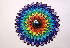 Rainbow Eye : With marker pens and coloured pencils (Original)