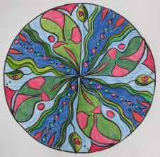 Atlantis: Mandala Original (coloured pencils)