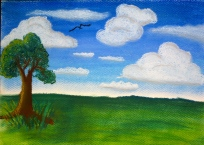 Clouds: Original with soft pastels