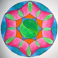 Mandala: Original (oil pastels)