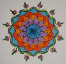 Mandala: Original (coloured pencils)