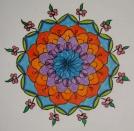 Mandala: Original (coloured pencils)