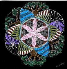 Flower of life: Pens and coloured pencils (Original)