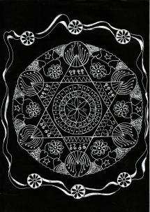Mandala: White on black (Original)