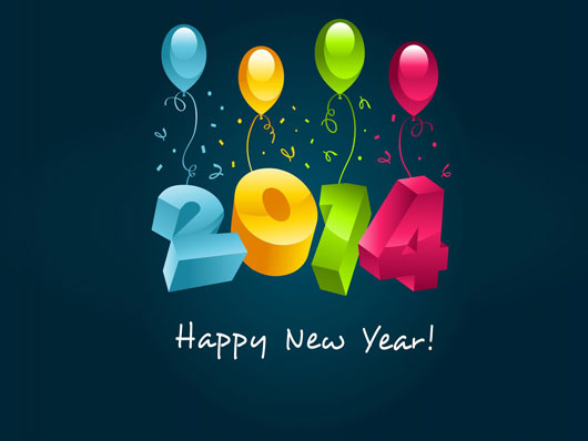 3D-New-Year-2014-Wishes-HD-Wallpaper