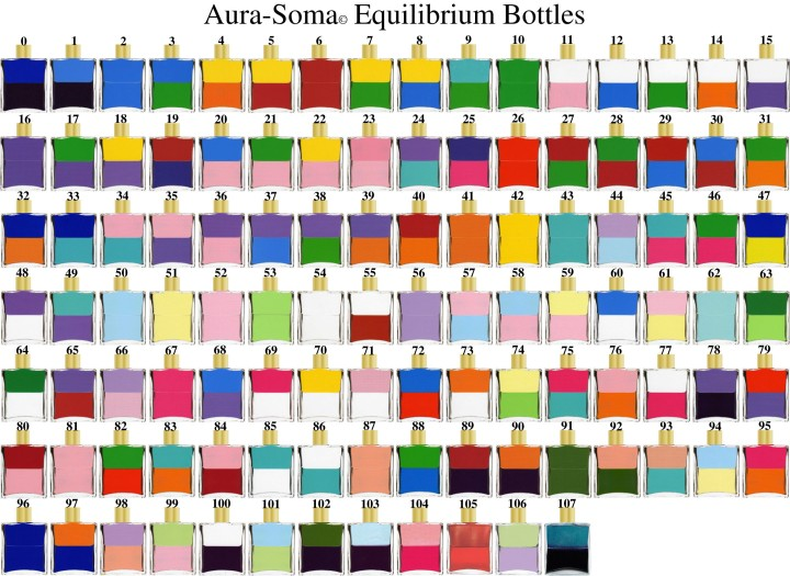 The Aura Soma Equilibrium Bottles...aren't they SO pretty!!